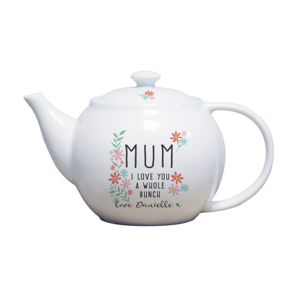 personalised tea pot for mum