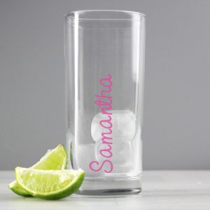 Personalised Island Inspired Glass