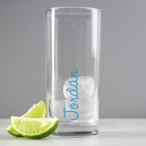 Island Inspired Personalised Glass