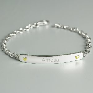 Personalised Silver & Gold Bracelet