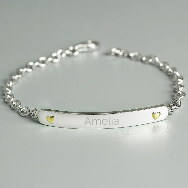 Personalised Silver & Gold Bracelet