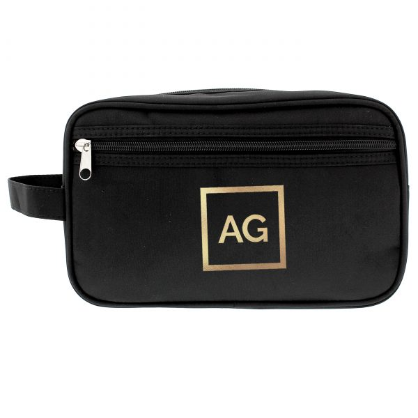 Gold Initials Personalised Wash Bag