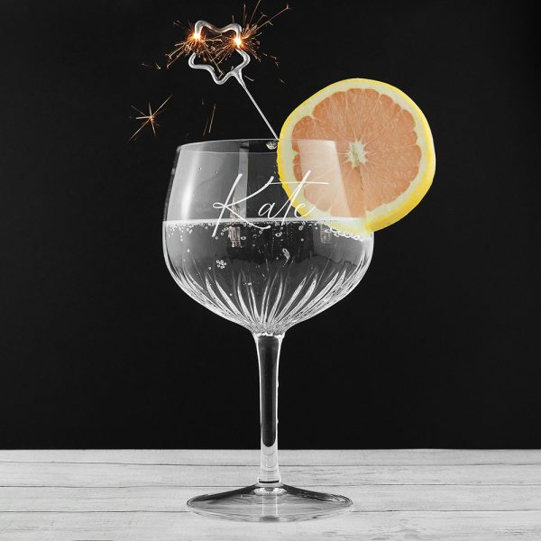 Personalised Crystal Glass for Gin
