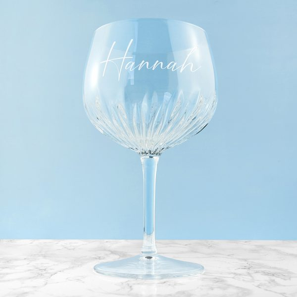 Personalised Crystal Gin Goblet Glass