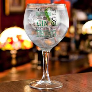 Personalised Balloon Gin Glass - Happiness