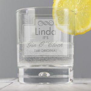 Personalised Gin Tumbler Glass
