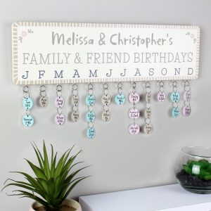 Birthday Planner Wall Hanging, Disc Hanging Birthday Planner
