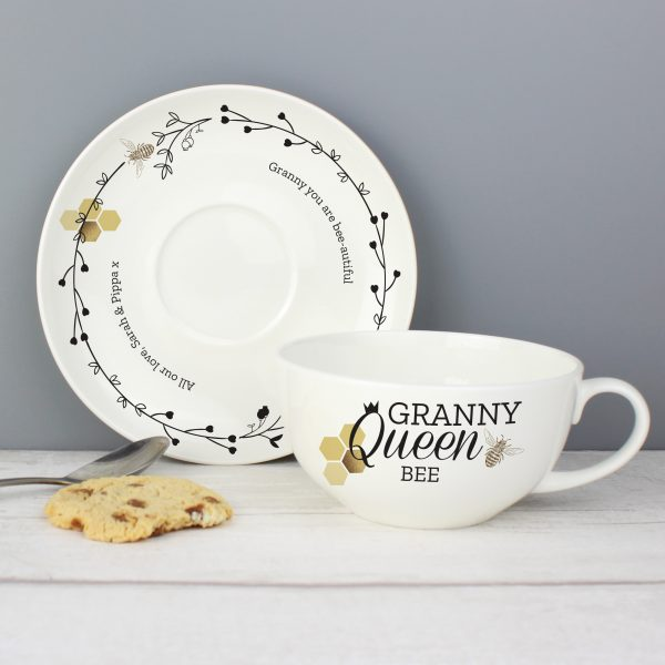 Personalised Cup & Saucer Bees