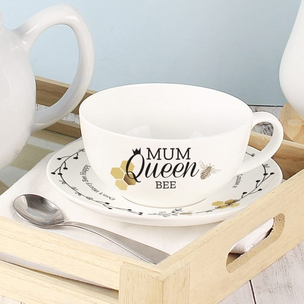 Personalised Bee Cup & Saucer