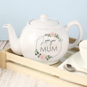 Personalised Teapot - Floral Design