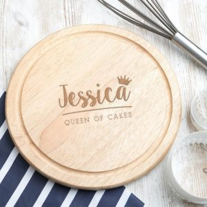 Personalised Queen of Cakes Round Board
