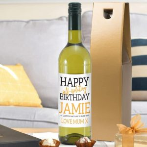 Happy Self Isolating Birthday White Wine