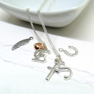 Mini Charm Initial Necklace