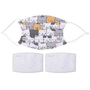 Fabric Facemasks Cute Kitties