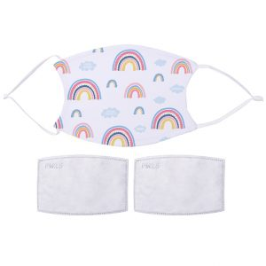 Printed Fabric Facemask Rainbow Pattern