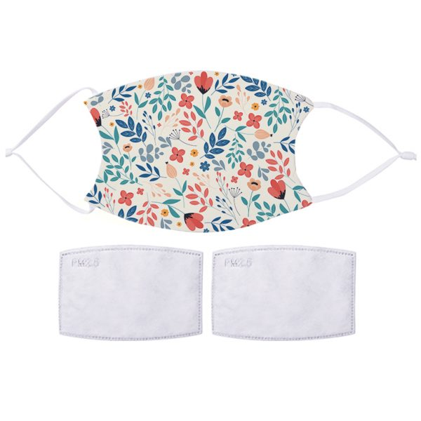 Fabric Facemask Spring Flowers