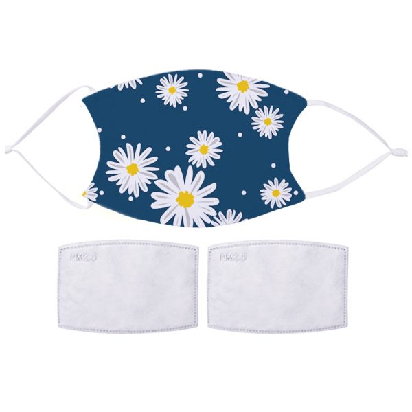 Fabric Facemask Blue Daisy