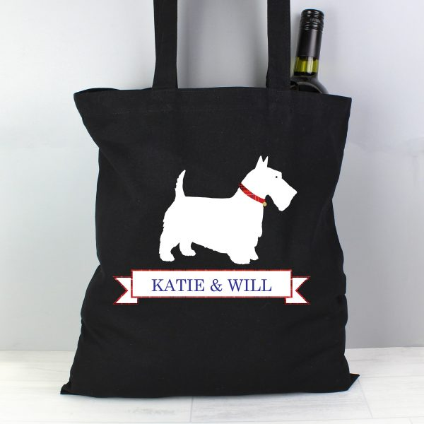 Personalised Scottie Dog Cotton Bag