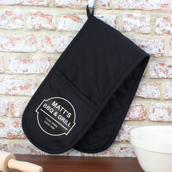 Personalised BBQ/Grill Oven Gloves
