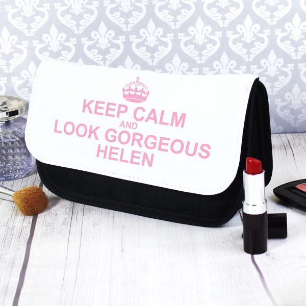 Personalised Keep Calm Make Up Bag