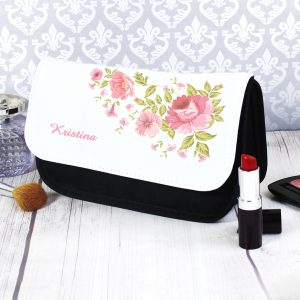 Personalised Pretty Rose Make Up Bag