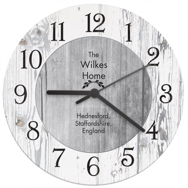 Personalised Any Message Wooden Clock