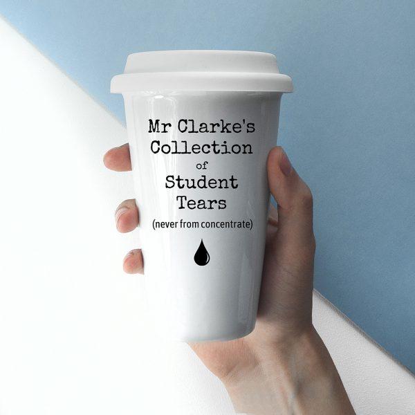 Personalised Students Tears Travel Mug