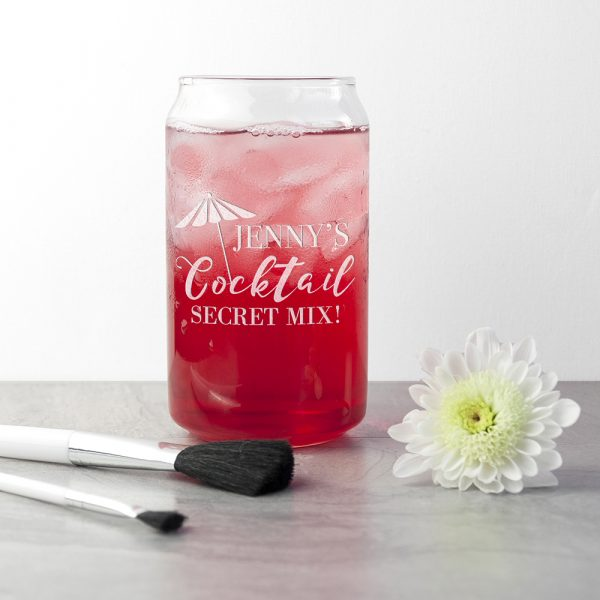 Personalised Happy Hour Can Glass