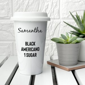 Personalised Name and Order Ceramic Travel Mug
