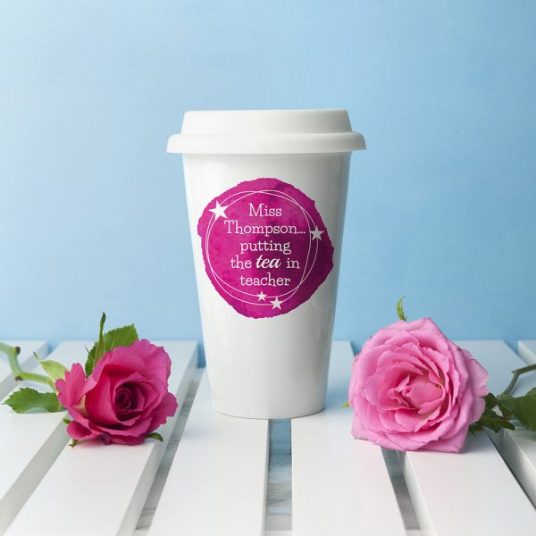 Personalised Tea in Teacher Travel Mug