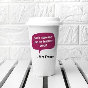 Personalised Teacher Says Travel Mug