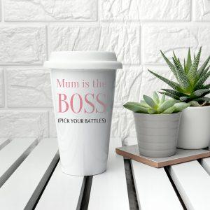 Personalised The Boss Travel Mug