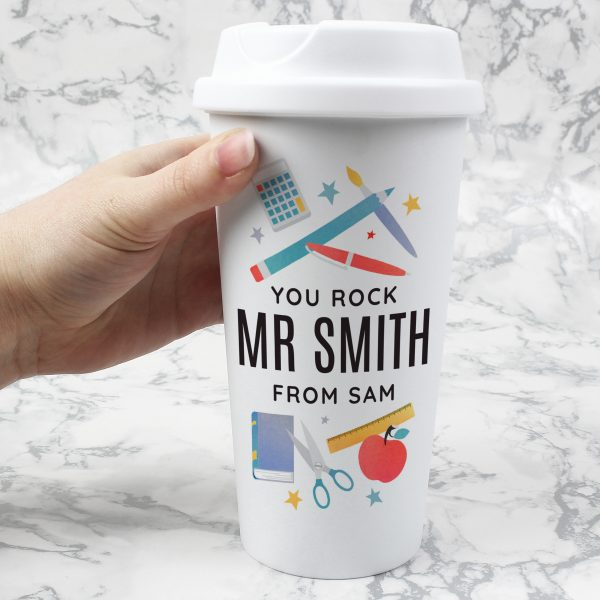 Personalised Teachers Double Walled Travel Mug