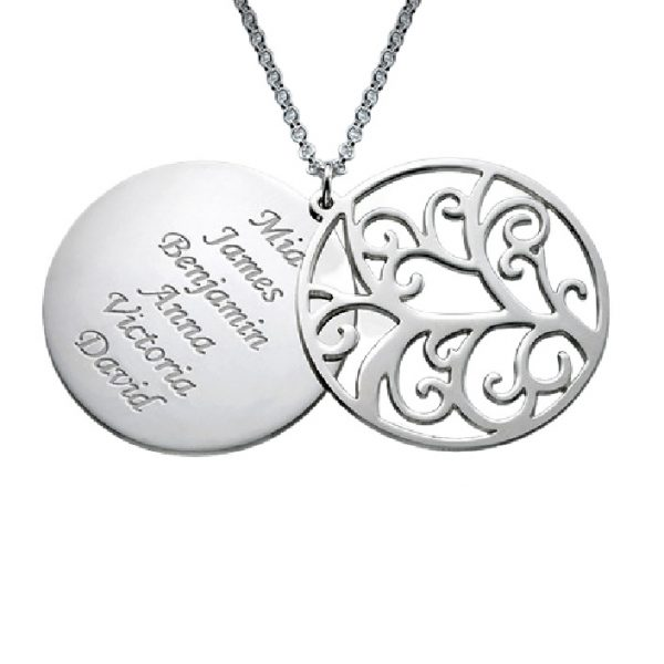 Family Tree Sterling Silver Personalised Necklace