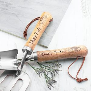 Personalised Luxe Silver Trowel and Fork Set