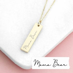 Personalised Handwriting Bar Necklace