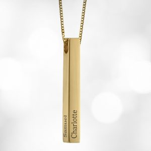 Personalised 3D Bar Name Necklace