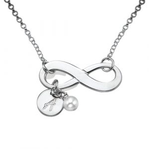Infinity Initial Necklace
