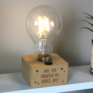 Personalised Stars LED Bulb Table Lamp