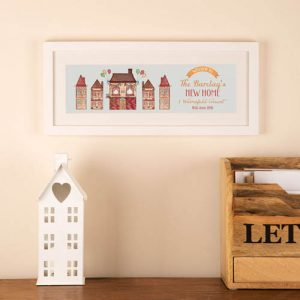 Personalised Illustrated New Home Frame: Watercolour
