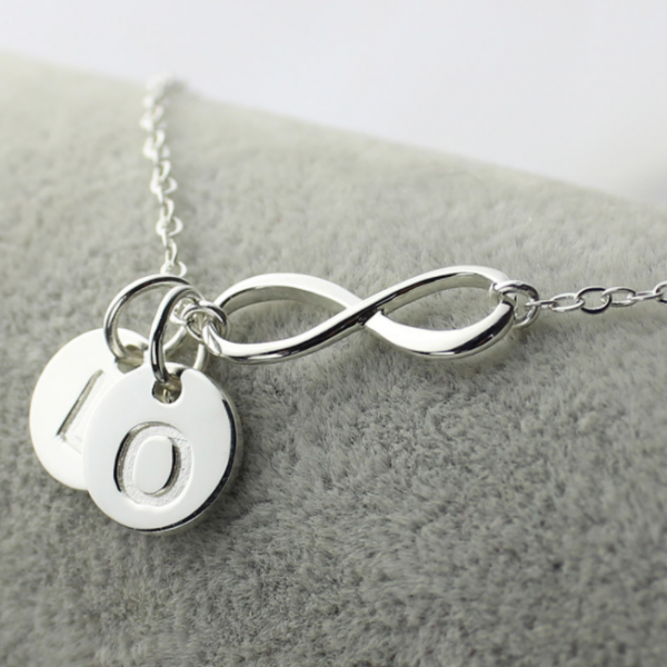 Custom Infinity Initial Necklace