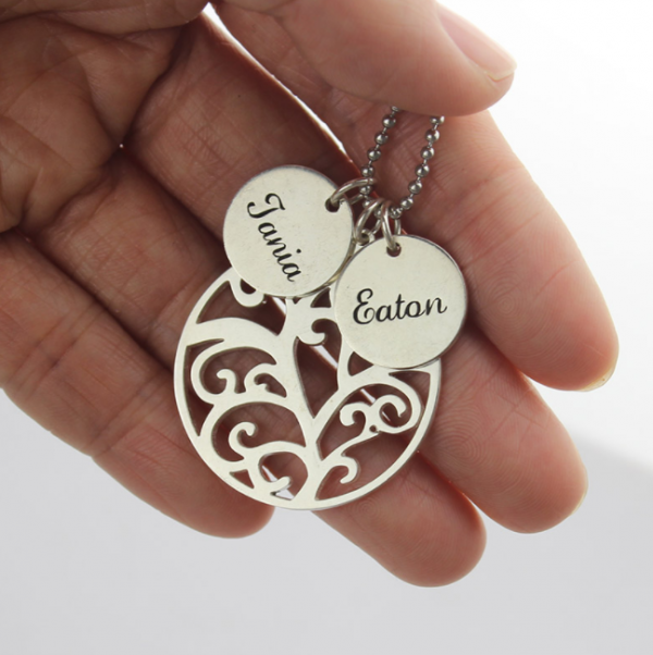 Family Tree Disc Necklace