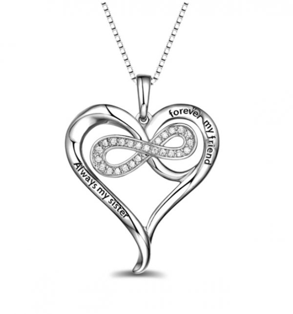 Personalised Infinity Heart Necklace