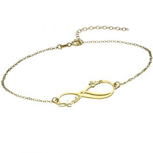 Gold Infinity Personalised Bracelet