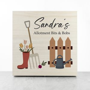 Personalised Allotment Accessories Box