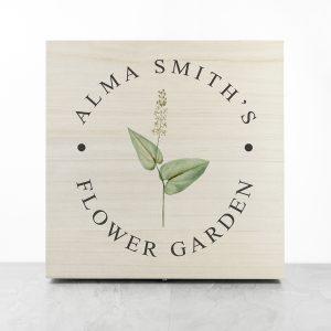 Personalised Flower Garden Accessories Box