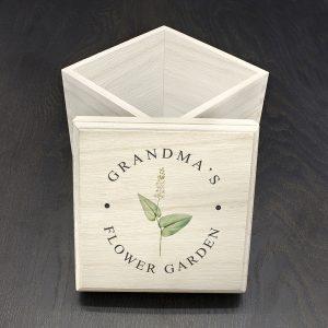 Personalised Flower Garden Seeds Box