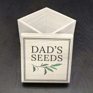 Personalised Gardening Seeds Box