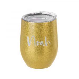 Glitter Stemless Wine Tumbler