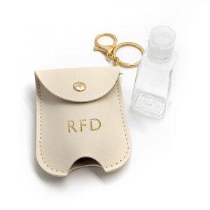 Personalised Hand Sanitiser Holder Keyring